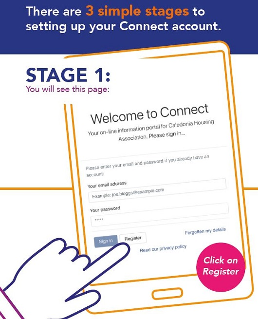 create a connect account stage 1